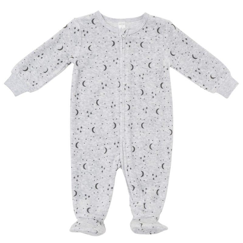 Printed Velvet Pajamas 0-24m