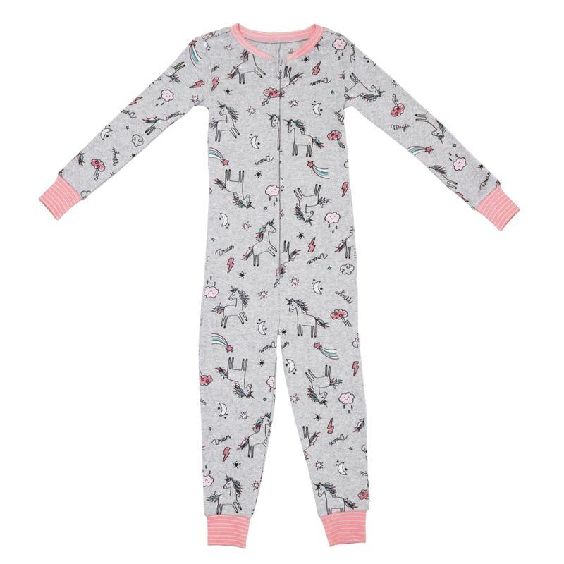 Unicorn 1pc Pajamas 2-6x