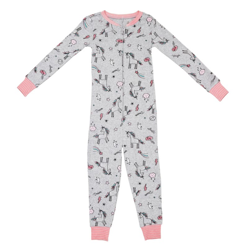 Unicorn 1pc Pajamas 2-6x