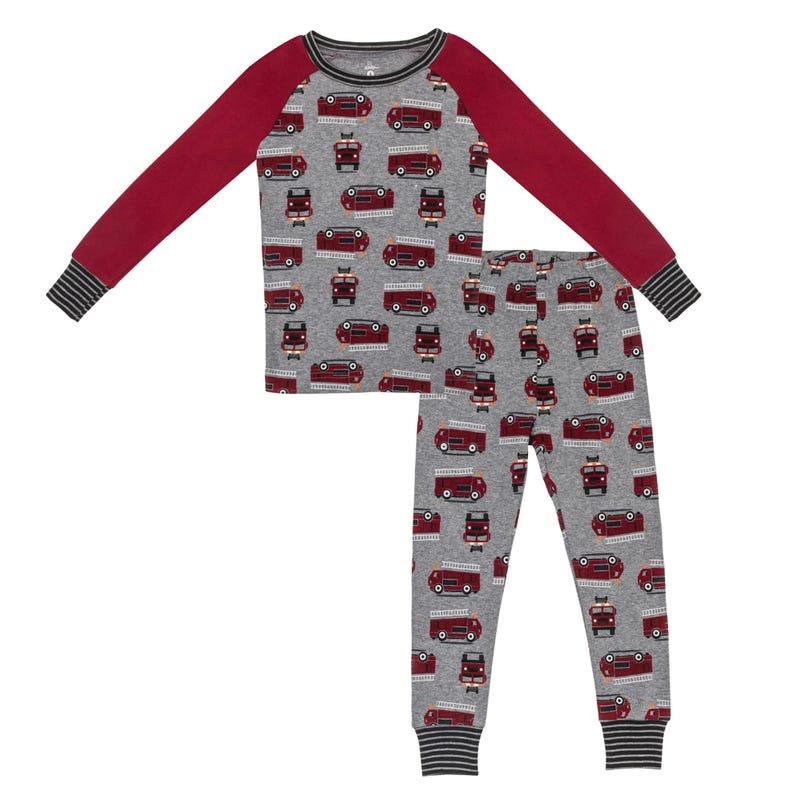 Pyjama Raglan Pompier 2-7ans
