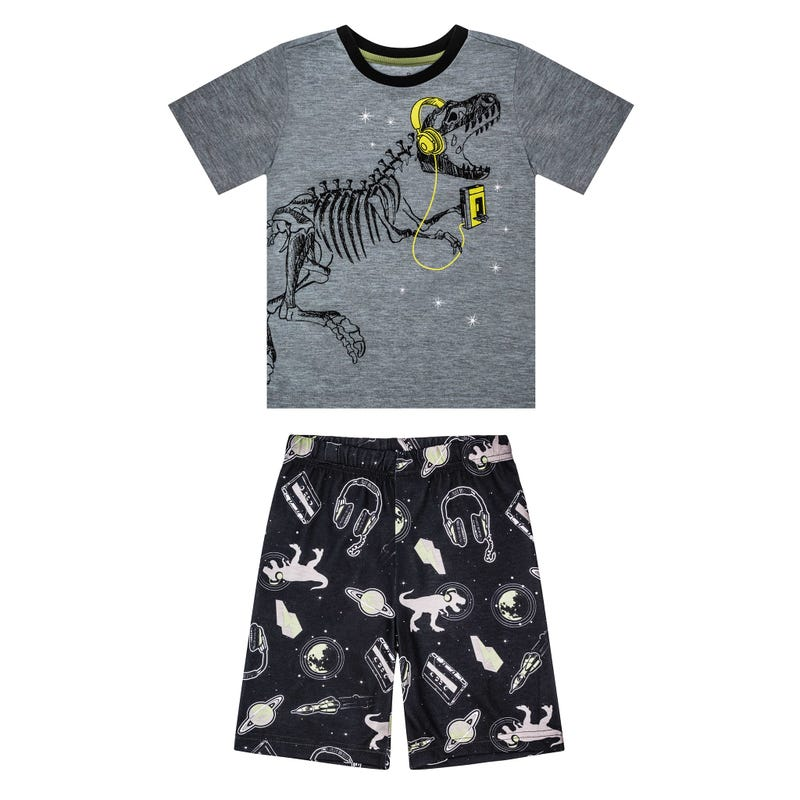 Dino Short Pajama Set 7-14y