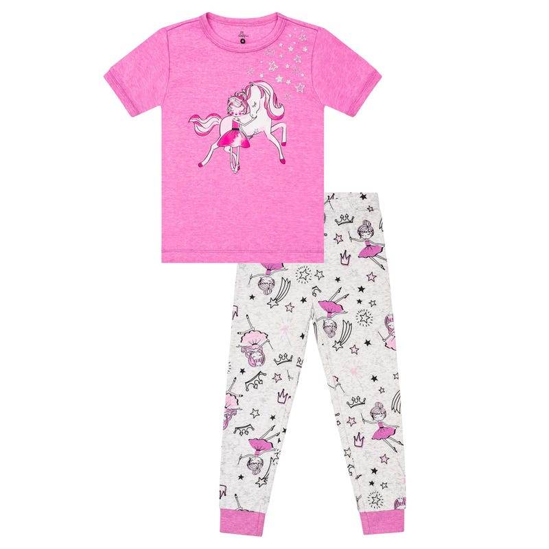Fairy Horse Long Pajama Set 2-6y