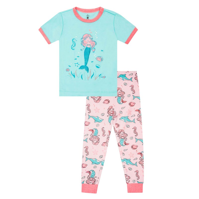 Mermaid Long Pajama Set 2-6y
