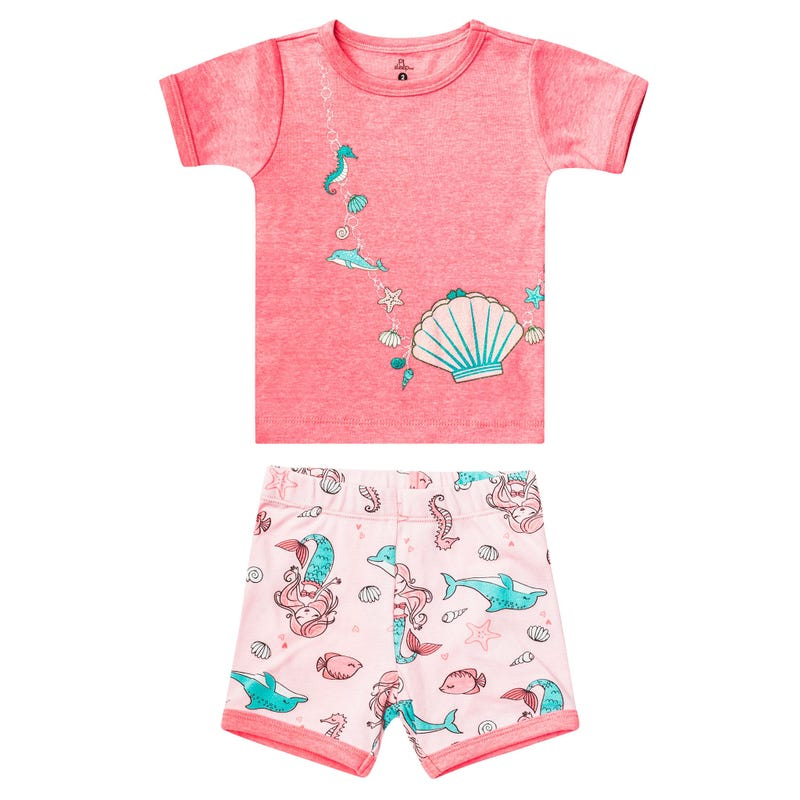 Mermaid Short Pajama Set 2-6y