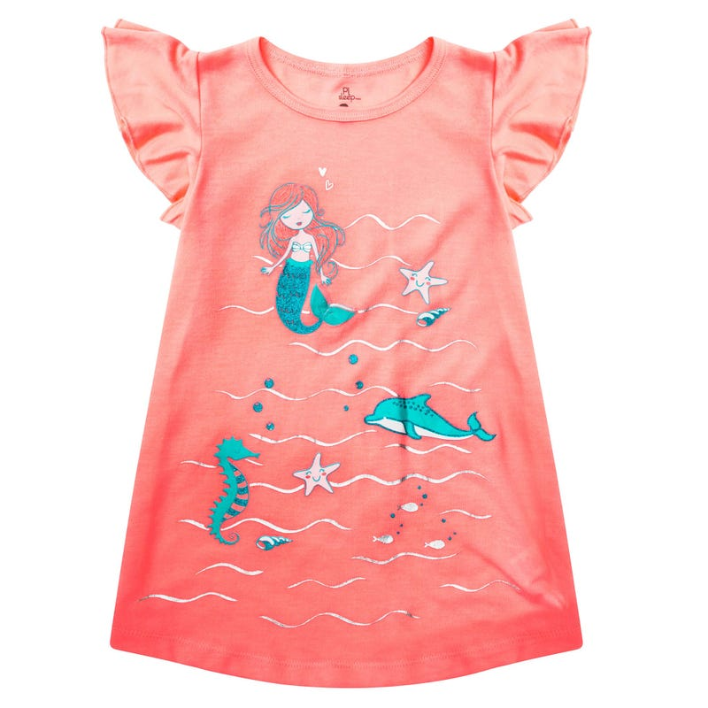 Mermaid Sea Nightgown 2-6y