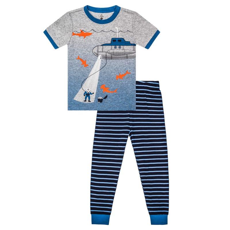 Ocean Long Pajama Set 2-7y