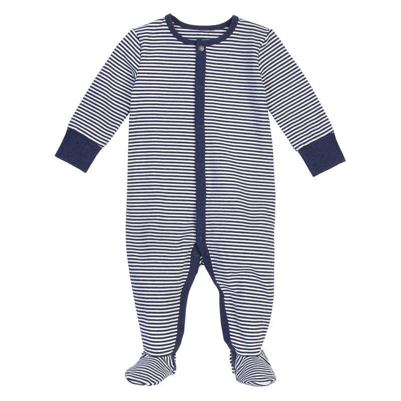 Navy striped Pajama Set 0-24m