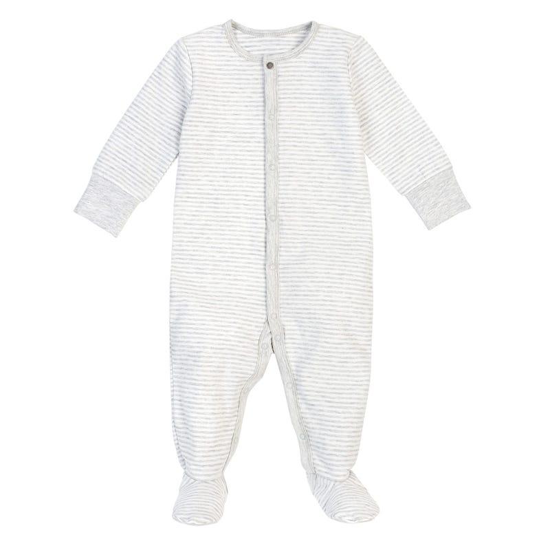 Grey striped Pajama Set 0-24m