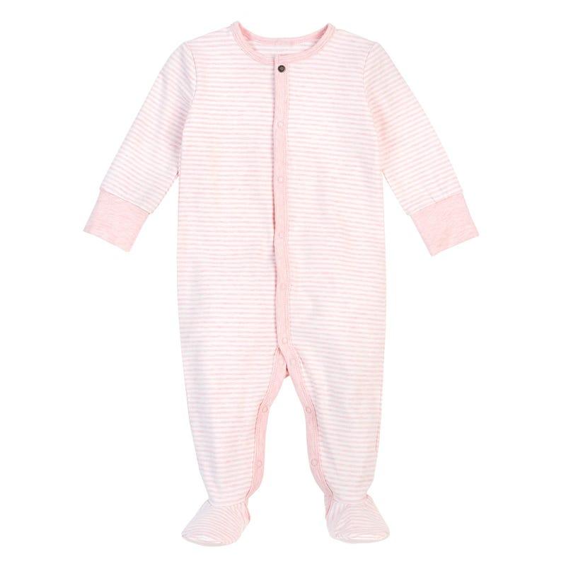 Pink striped Pajama Set 0-24m