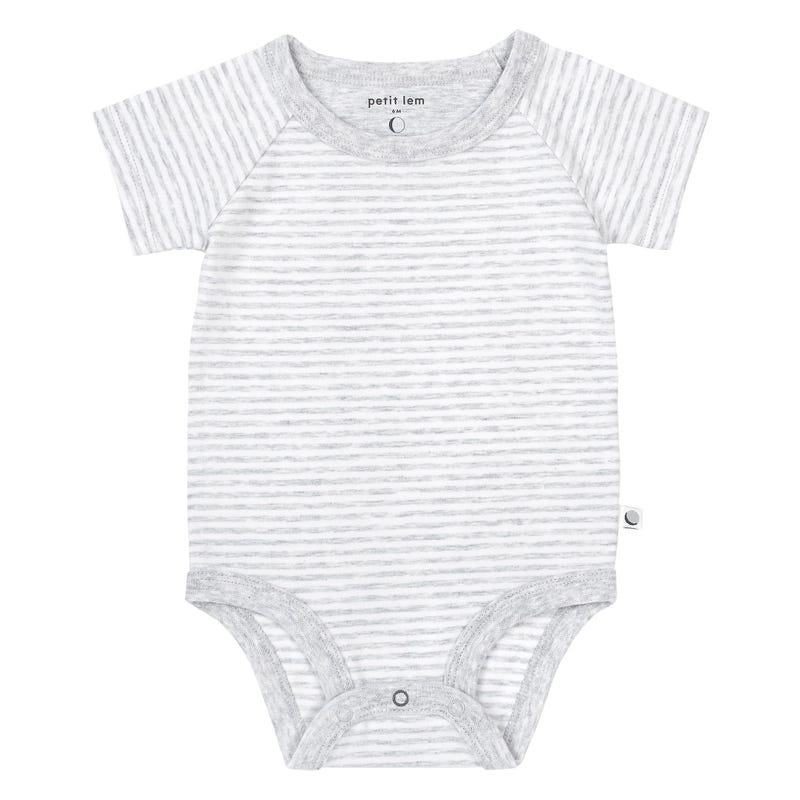 Striped Bodysuit 0-24m - Gray