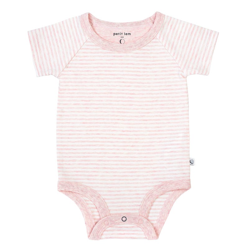 Striped Bodysuit 0-24m - Pink