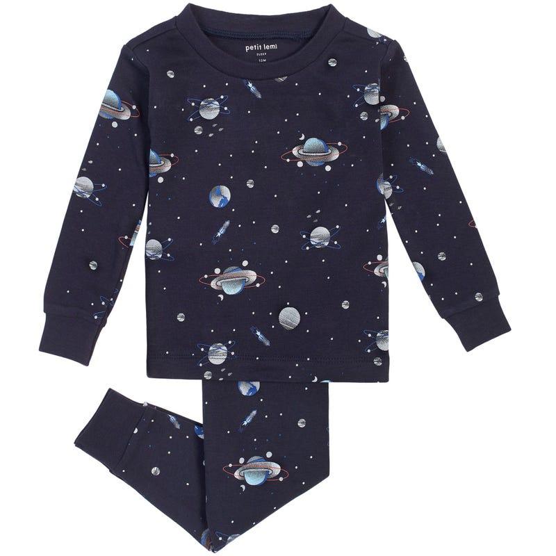 Space 2 Pieces Pajama Set 12-24m