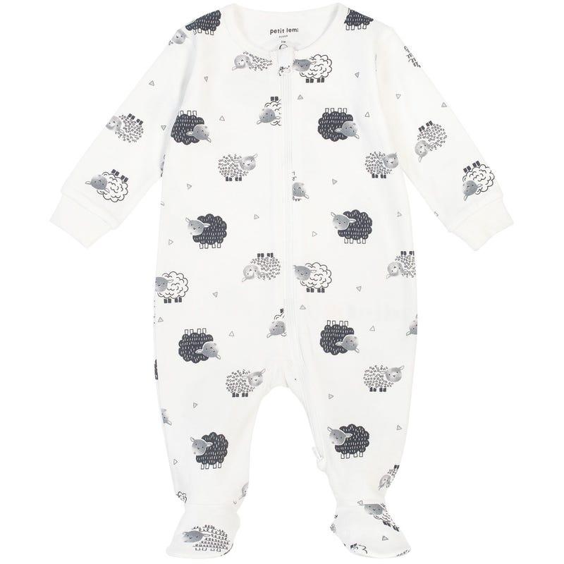 Sheep Printed Pajama Set 0-24m