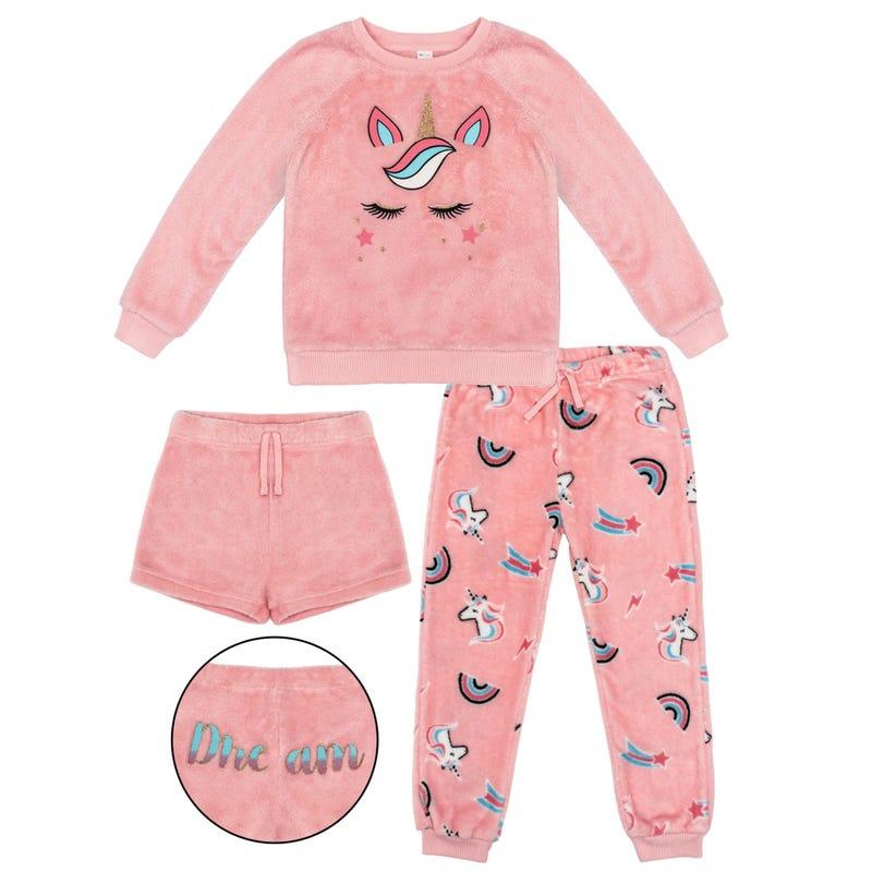 Unicorn 3pcs Pajama Set 4-14