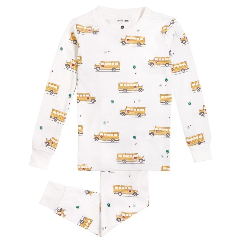 School Bus Pajamas 2-7y