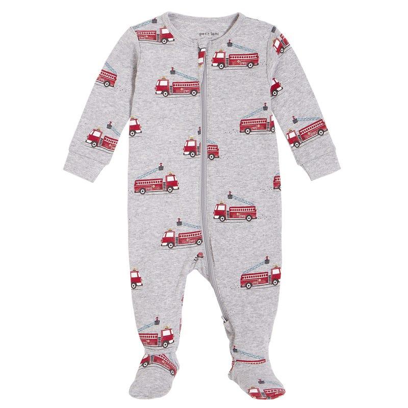 Firetrucks Pajamas 0-24m