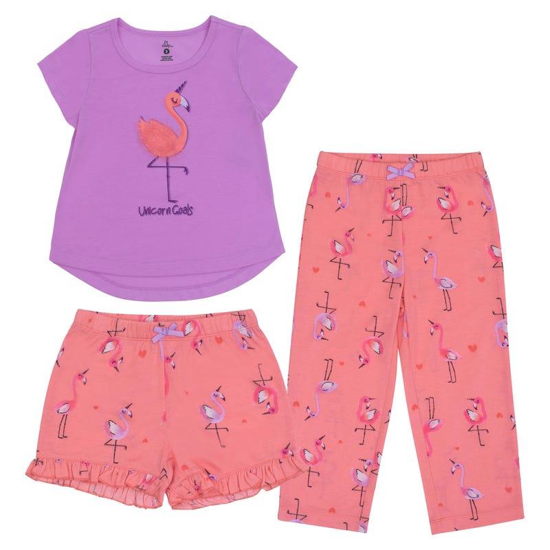 Pyjama 3pcs Flamant 2-6