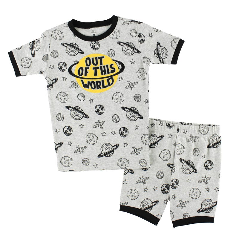 Space Short Pajamas 2-7y
