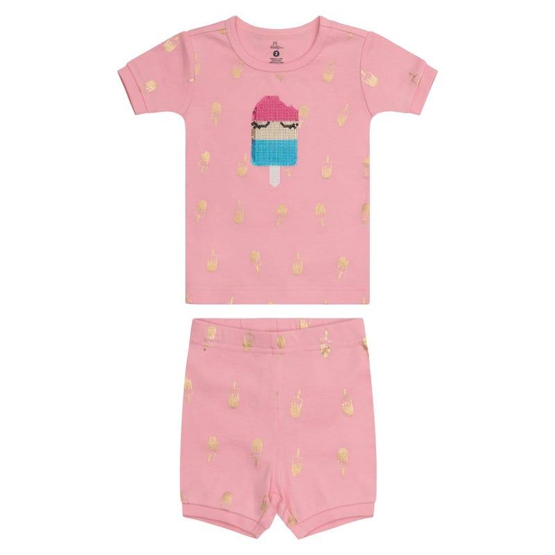 Pyjama Court Crème Glacée 2-14