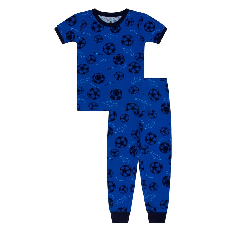 Soccer Long Pajamas 2-7y
