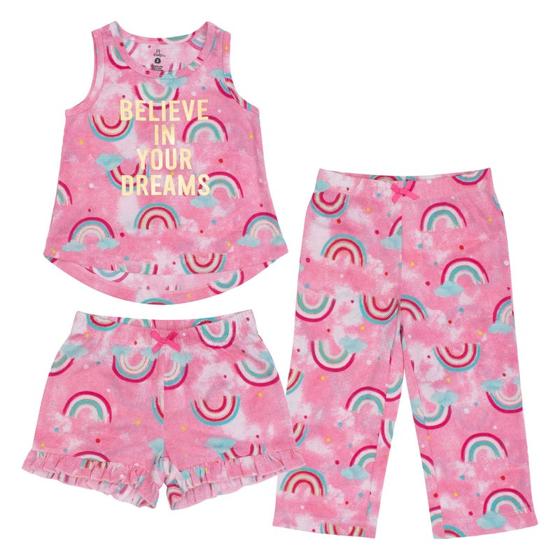 Rainbows 3pieces Pajamas 2-14y