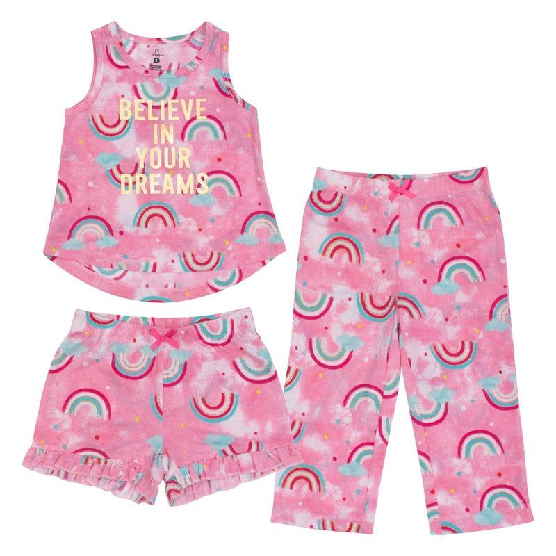 Pyjama 3 pièces Arc-en-Ciel 2-14ans