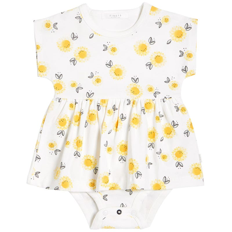 Sunflowers Peplum Dress 0-24m