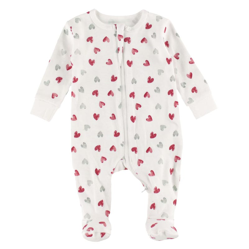 Hearts Pajamas 0-9m