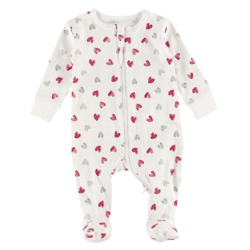 Pyjama Coeurs 0-9m
