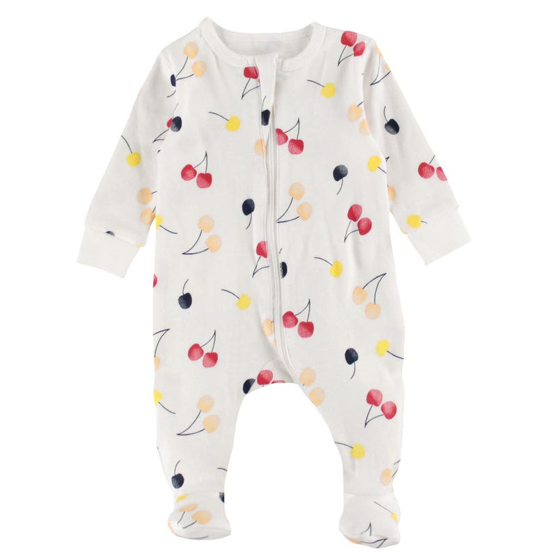 Cherries Pajamas 0-9m