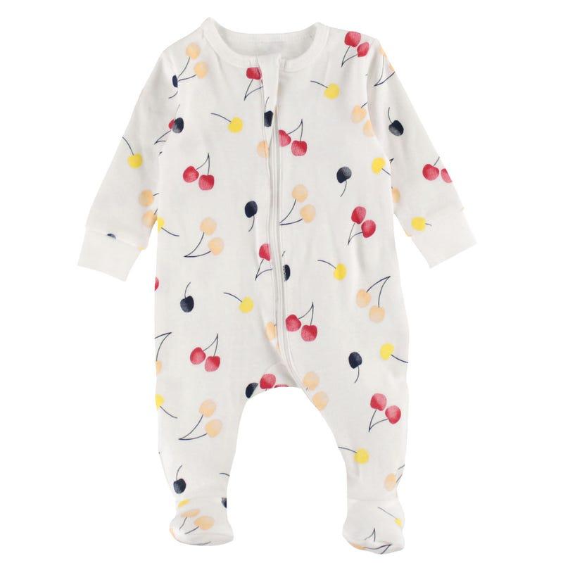 Cherries Pajamas 0-9m