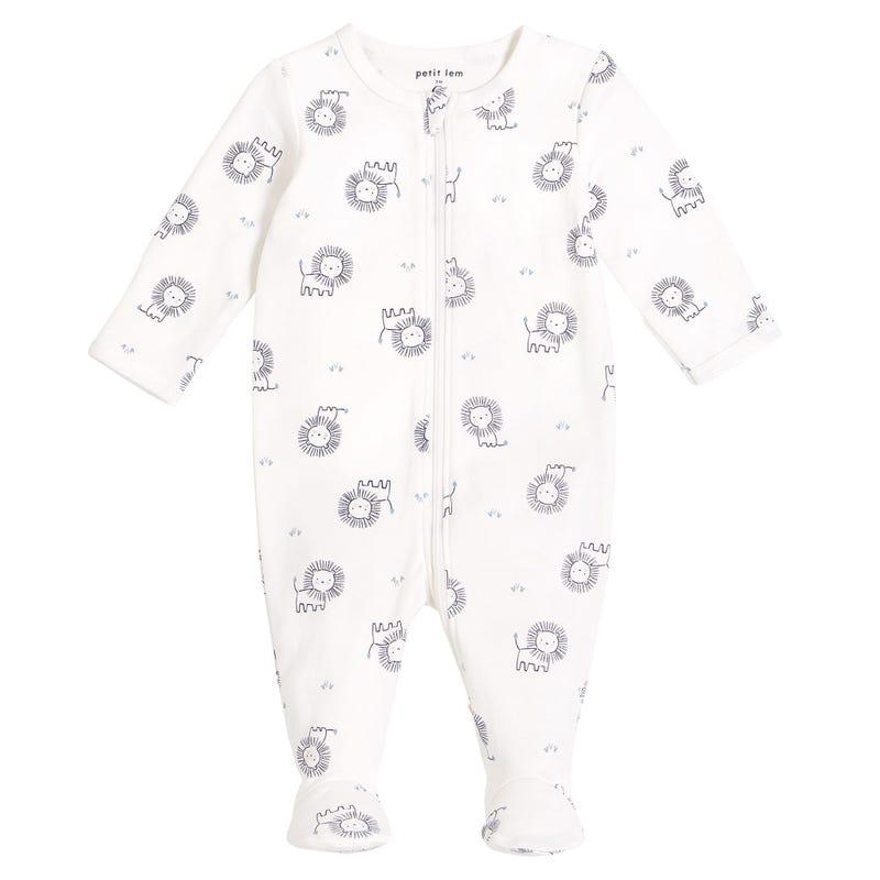 Pyjama Blanc Lion 0-12mois
