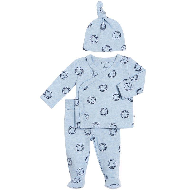 Lion 3-Pack Pyjamas 0-9m