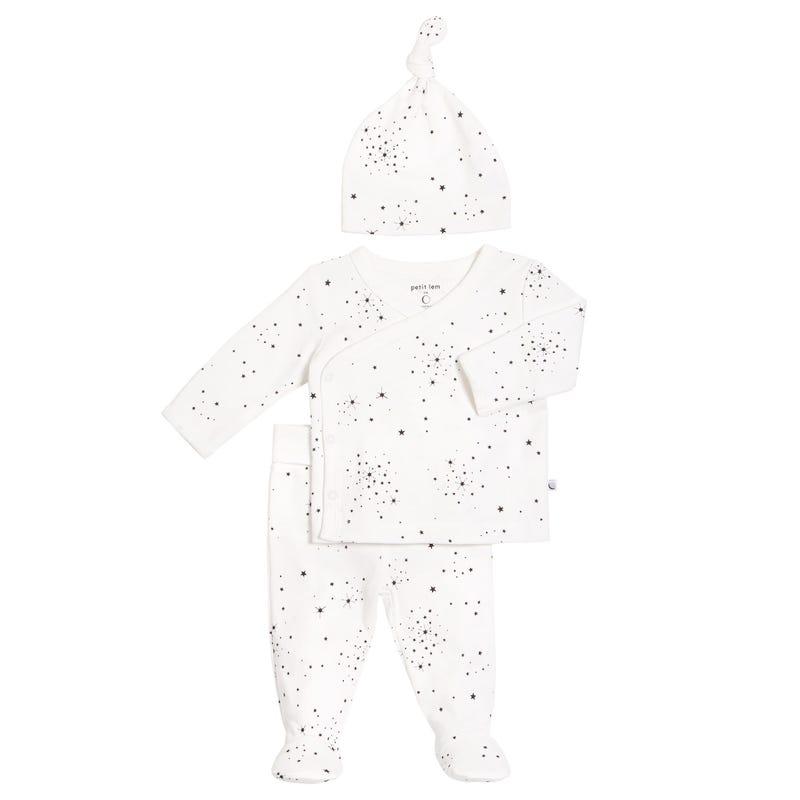 Pyjama 3 Pièces Étoiles 0-6mois
