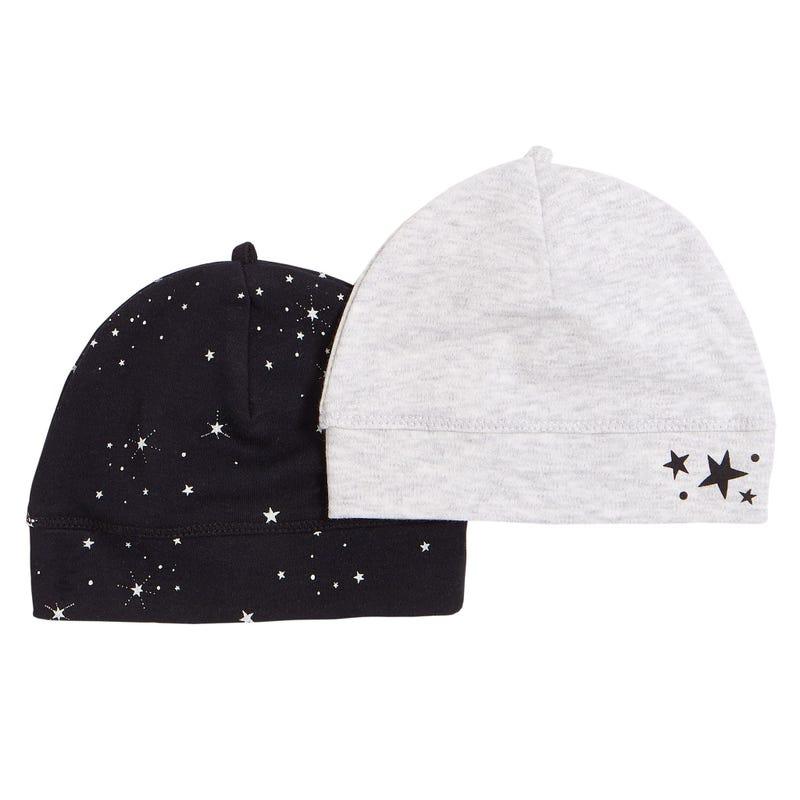 Bonnets Ensemble de 2 Étoiles 0-3mois