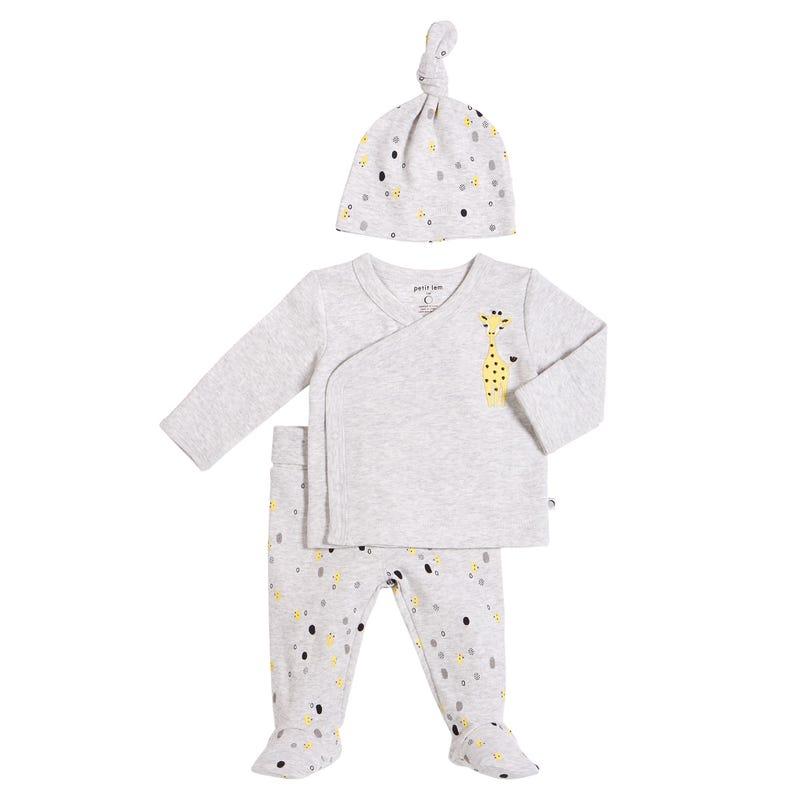 Giraffe 3 Pieces Pyjamas 0-6M
