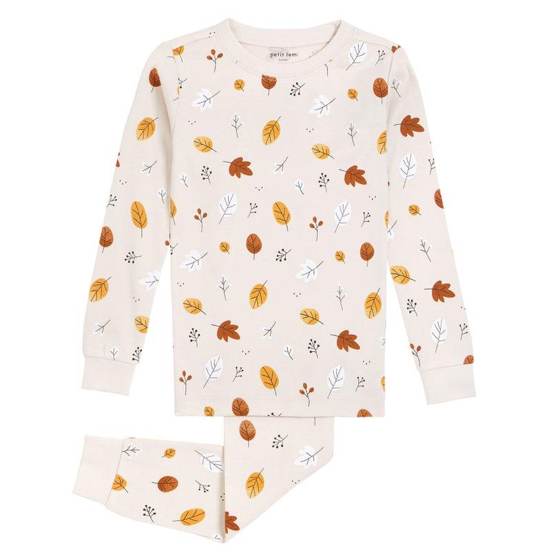 Leaves Pajamas 2-7y