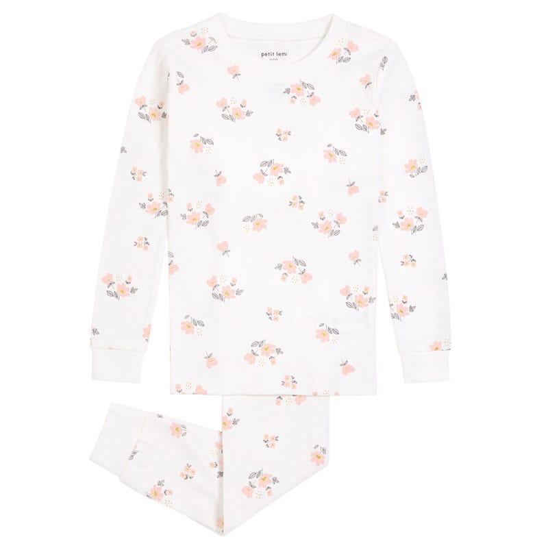 Flowers 2 Pieces Pajamas 2-7y