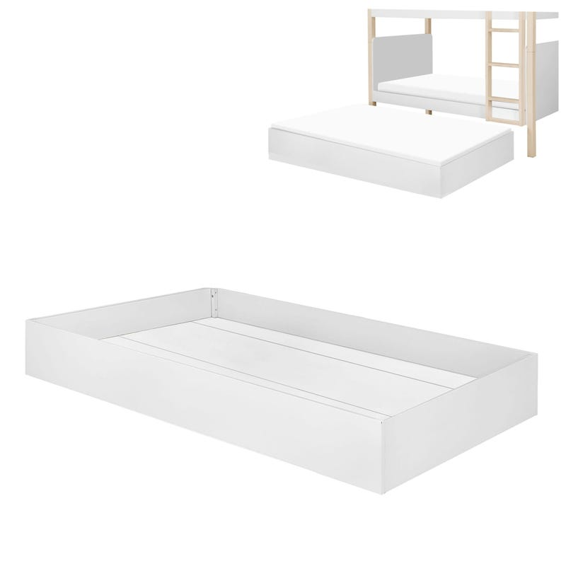 Universal Twin Storage Trundle Bed - White