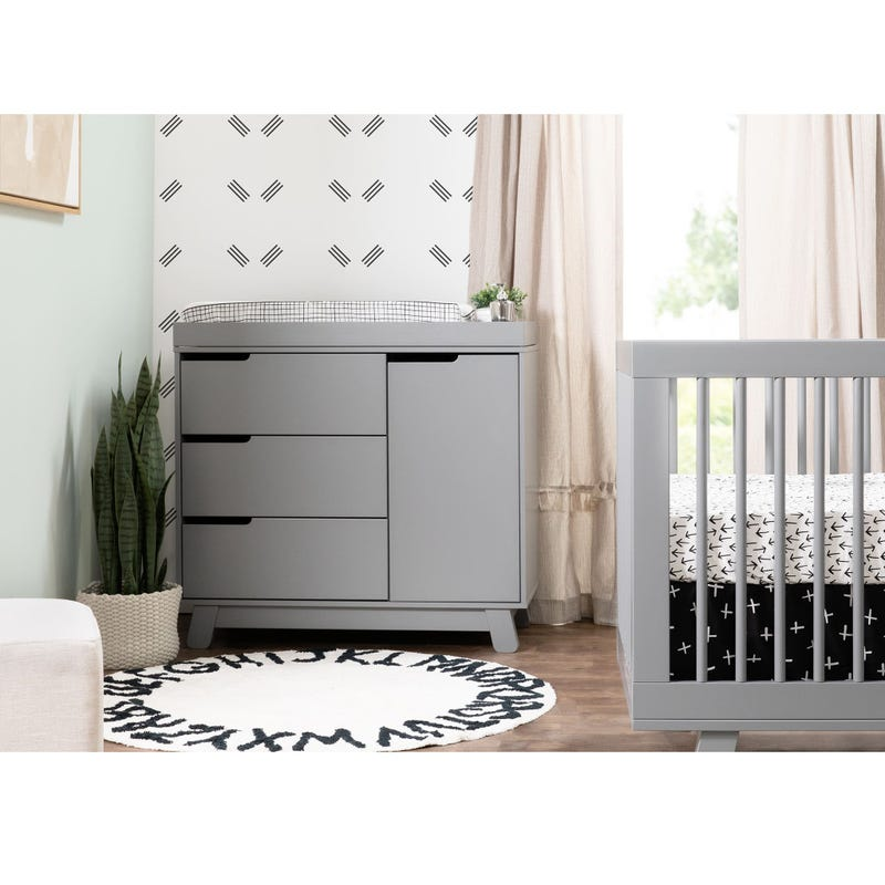 Hudson 3-Drawer Changer Dresser with Removable Changing Tray - Grey
