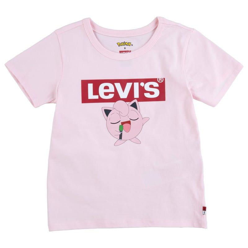 T-Shirt Rose Pokemon 4-6X