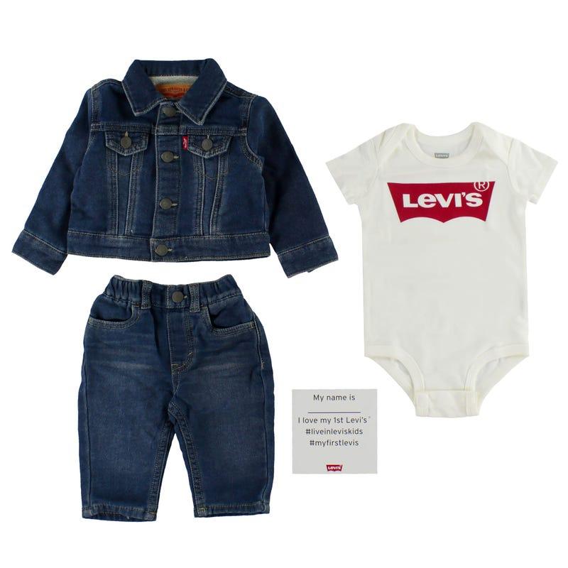 Levi's 3 Pieces Box Set 0-6m