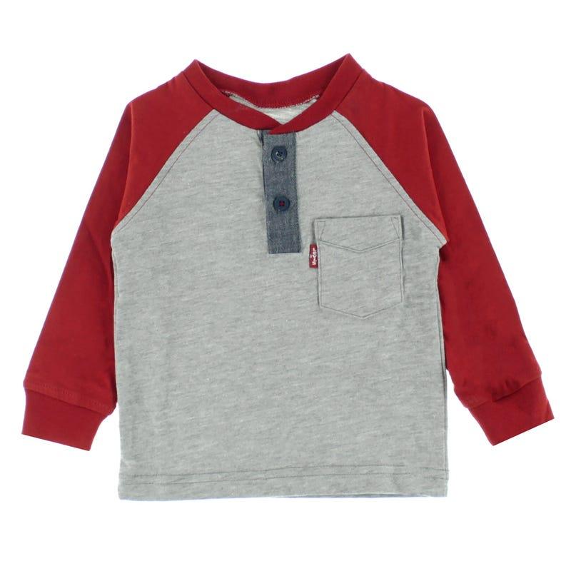 T-Shirt Henley Raglan 12-24m