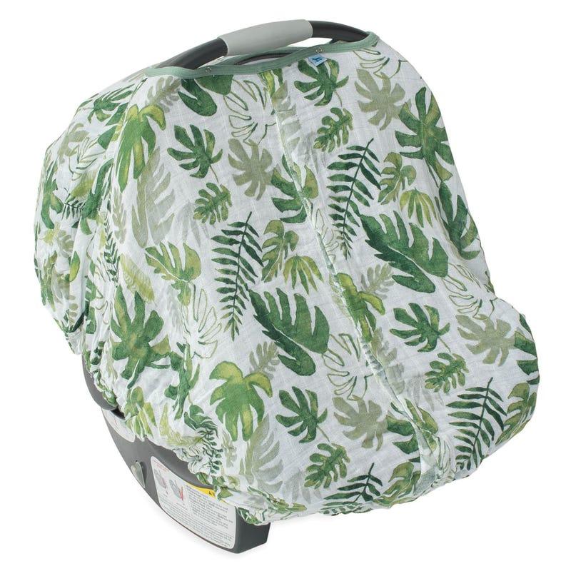 Car Seat Canopy - Tropical Leaf