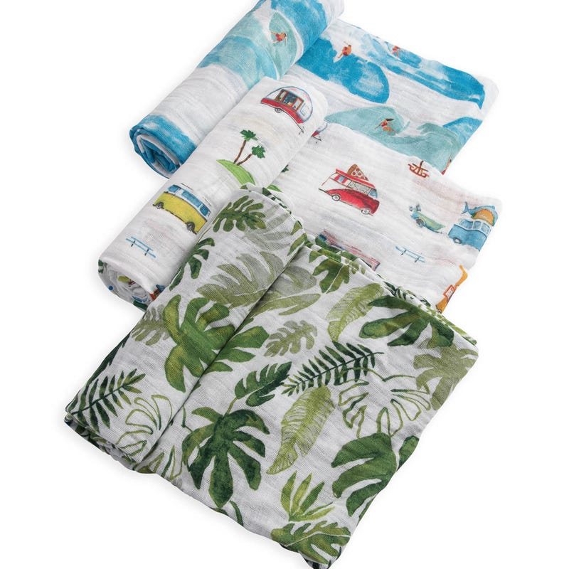 Cotton Muslin Swaddle Blanket Set of 3 - Summer Vibe