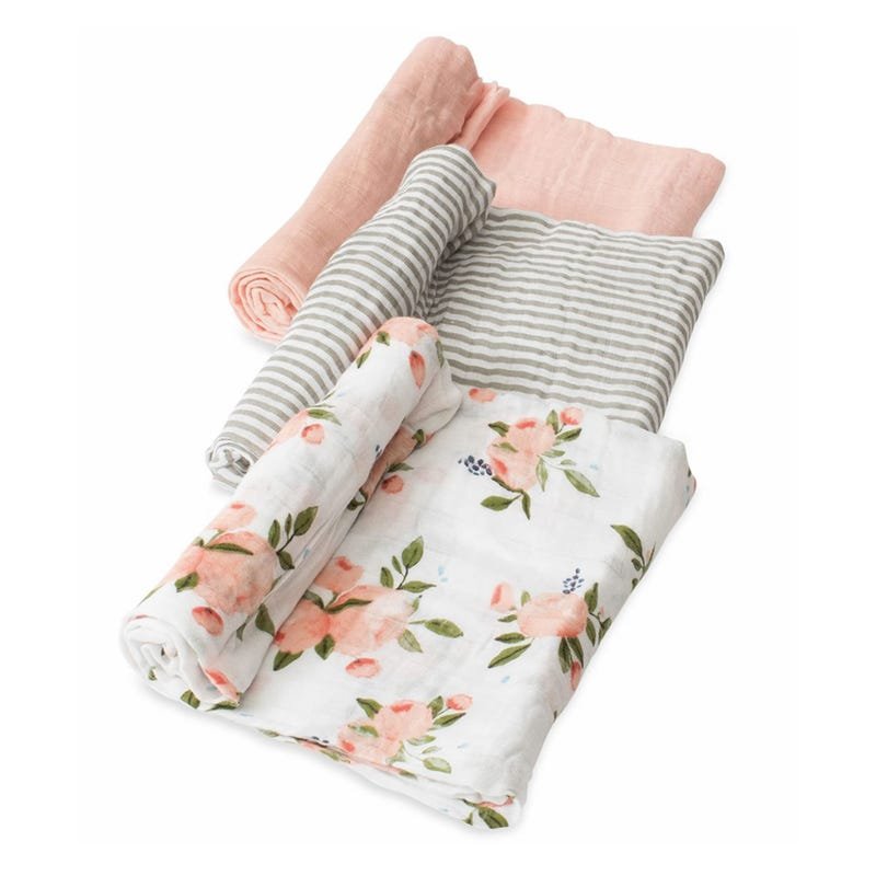 Muslin Blanket Set of 3 - Flowers