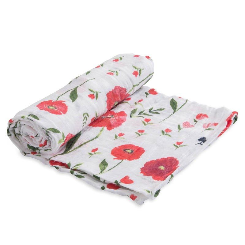 Cotton Swaddle - Summer Poppy