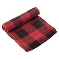 Cotton Swaddle - Red Plaid