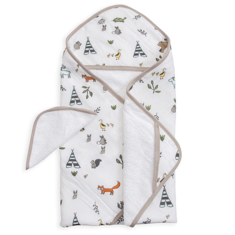 Hooded Towel and Washcloth Set - Forest Friends
