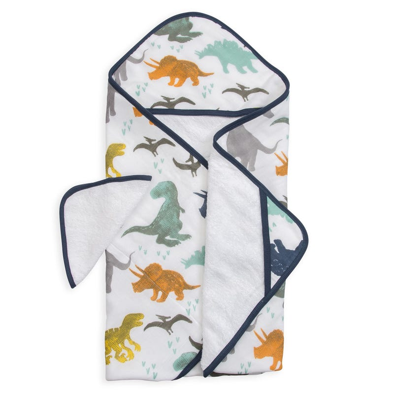 Hooded Towel and Washcloth Set - Dino Friends
